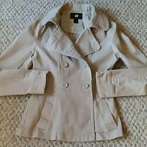 Jackets & Blazers - H & M tan blazer jacket sz 6